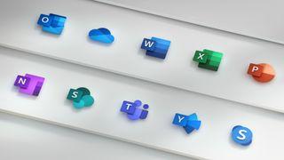 Microsoft Office-ikonene som ble introdusert i 2018.
