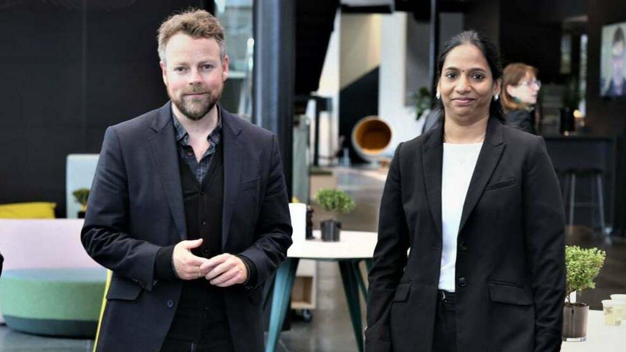 Papitha Sekar deltok i Telenors Open Mind-program, som fylte år og ble feiret med arbeidsminister Torbjørn Røe Isaksen (H) til stede.