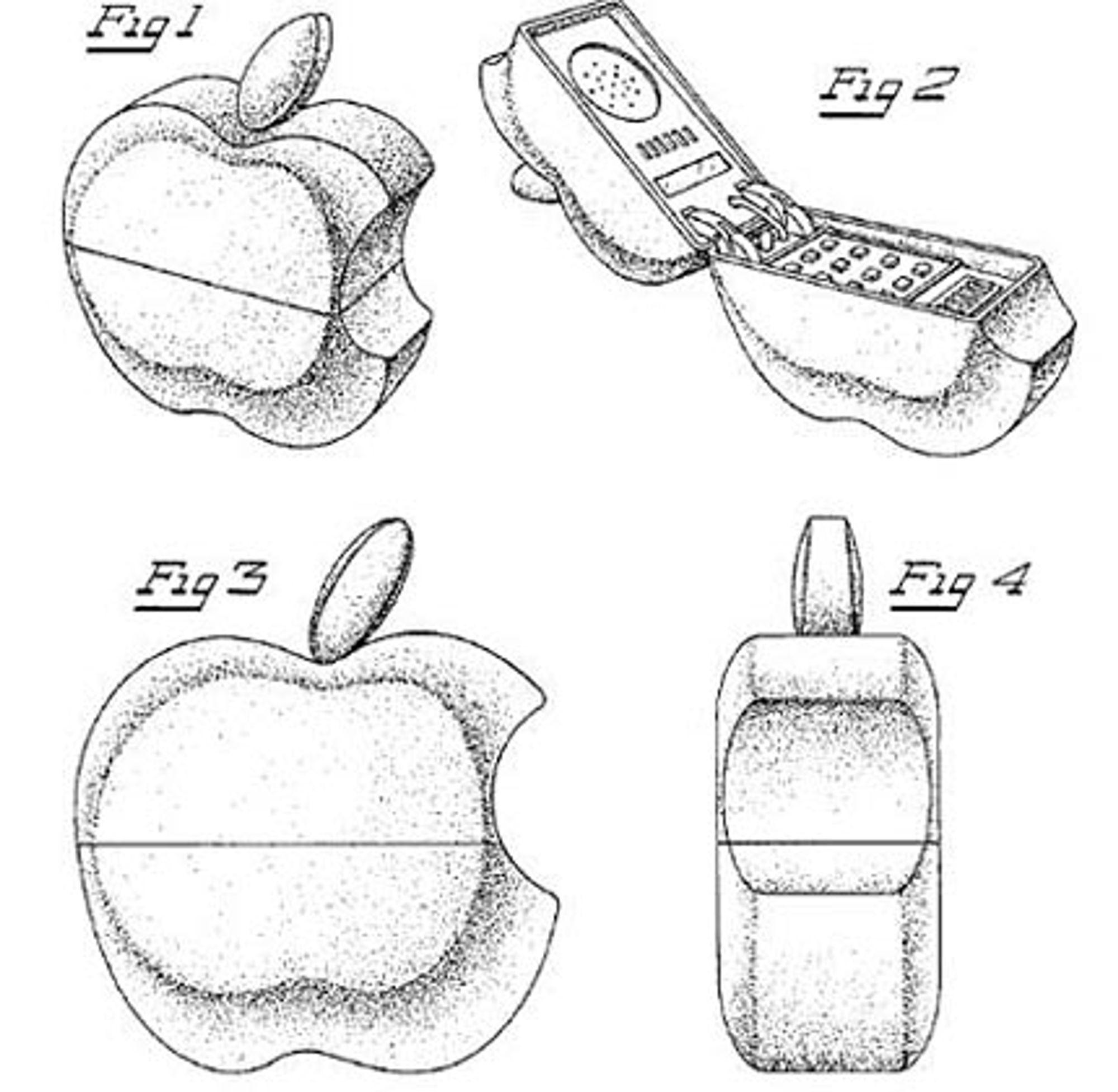 Slik så Apple for seg at mobiltelefonen deres skulle se ut.
