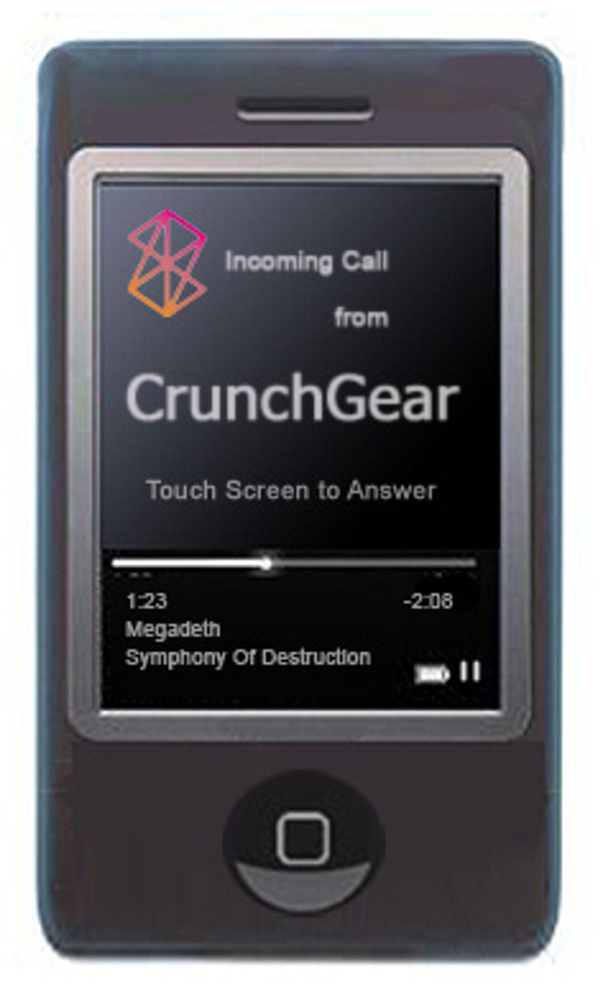 Kanskje vil Zune-telefonen se slik ut? (Bilde: Crunch Gear)