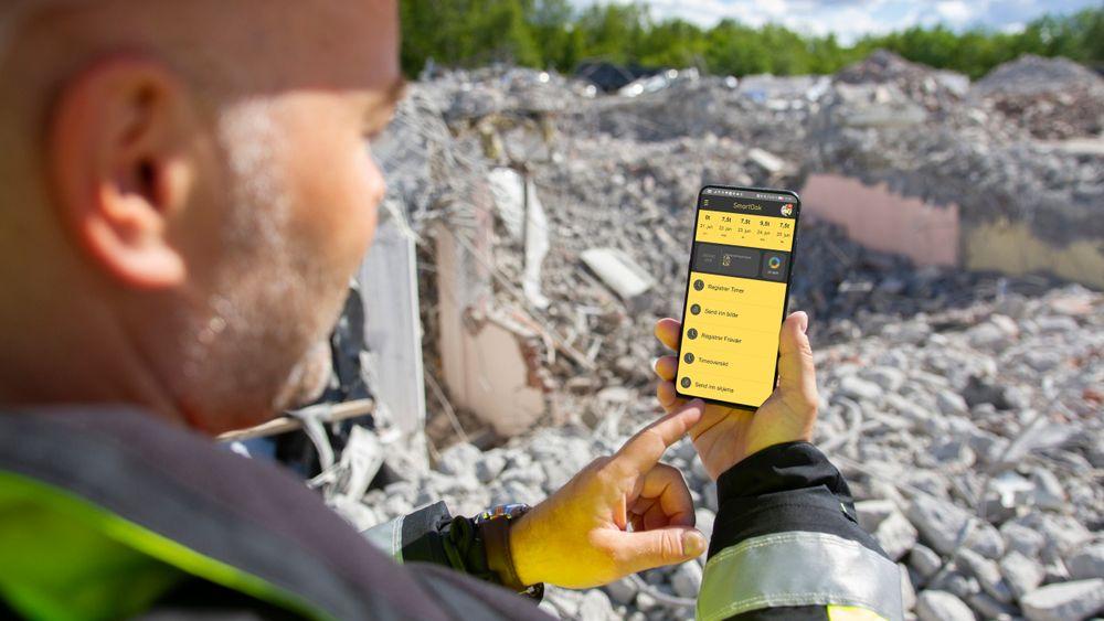 Appen gjør det enkelt å dokumentere alt som gjøres på byggeplassen forløpende.