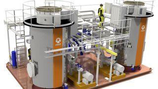 Ett eneste norsk firma leverer teknologien som skal varme opp oljeplattformen når den elektrifiseres