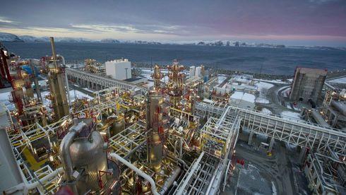 Det brenner i Equinors produksjonsanlegg på Melkøya