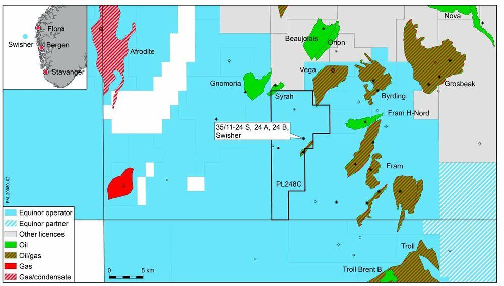 Equinor har funnet olje og gass i nærheten av Fram-feltet i Nordsjøen.