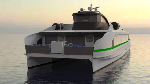 Hurtigbåten skal gå på batteri, ha plass til nesten 150 passasjerer og bygges i aluminium