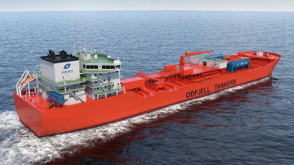 Odfjell SE er med  på et utviklingsprosjekt for bruk av mulitfuel brenselcelle på 1,2 MW. LNG-tanker og «cold box» på dekk.