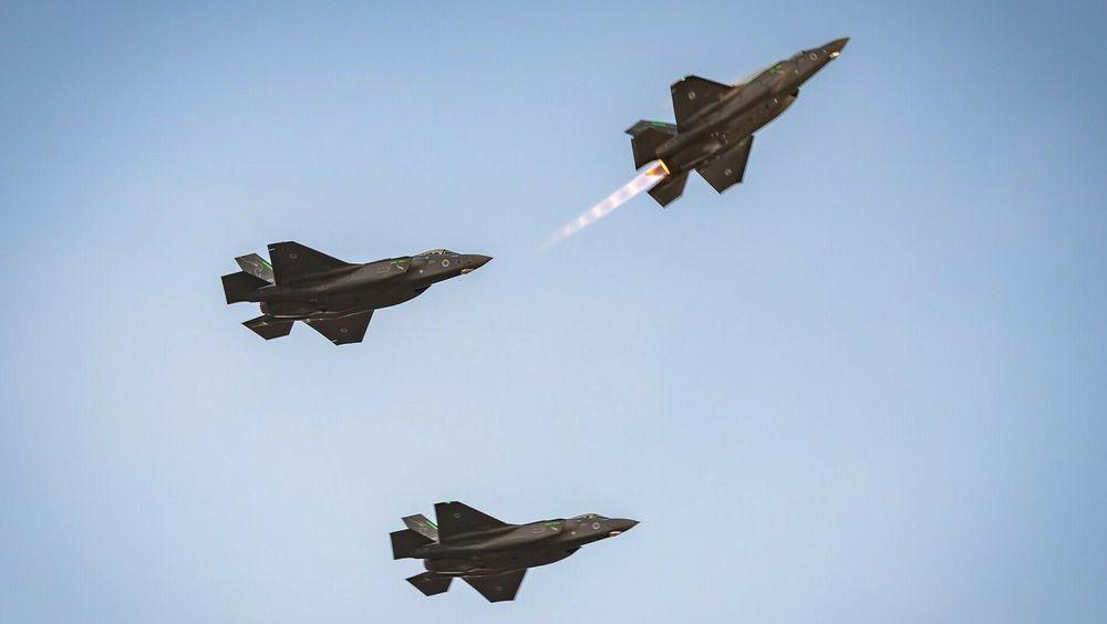 Tre israelske F-35I «Adir» i juni i år. Så langt har IAF mottatt om lag halvparten av de 50 flyene som er bestilt hittil.