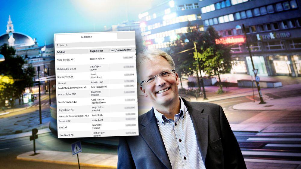 Finn Bjørn Ruyter er konsernsjef i Hafslund E-co, oger en av sjefene i norske kraftselskaper som tjener mest.