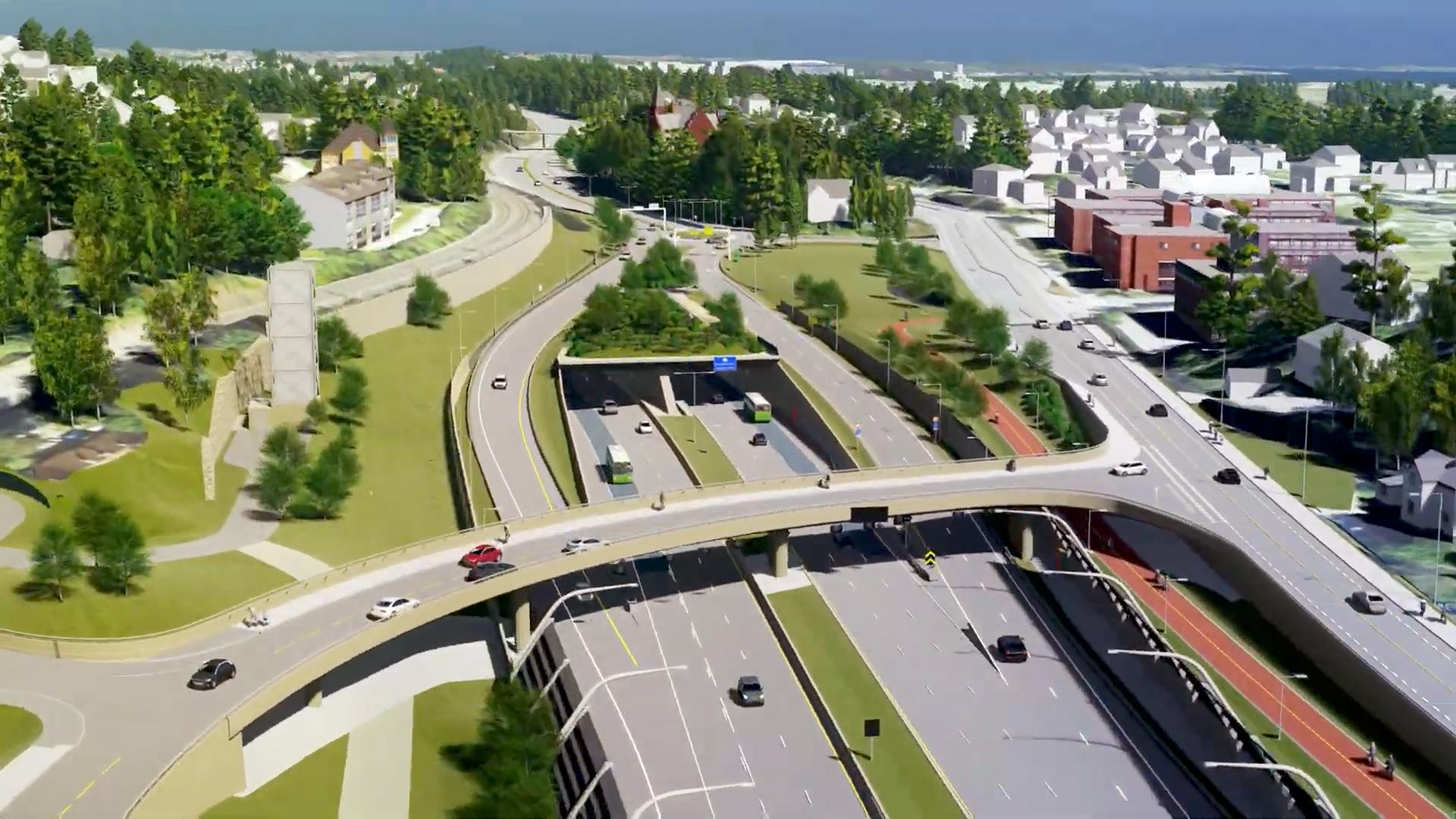 E18 skal blant annet legges i tunnel under Høvik, og prosjektet skal sørge for bedre framkommelighet og sikkerhet for samtlige trafikanter.