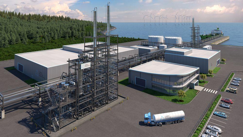 Det vil kreve 3 milliarder kroner og opptil en terawattime strøm å gjøre om hele Finnfjords CO2-utslipp til metanol.