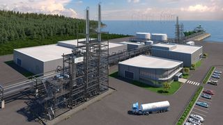Statkraft inn i metanol-produksjon:Vil bruke hydrogen for å gjøre om Finnfjords CO2 til drivstoff