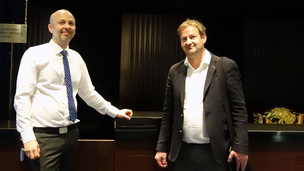 Gründer og oppfinner Torfinn Borsheim (t.h.) og advokat Halvor Manshaus vant frem.