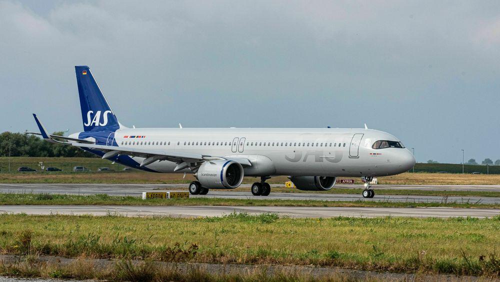 Det første av tre A321LR som SAS leaser fra ALC ble levert i Hamburg torsdag 15. oktober.