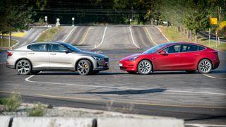 Polestar 2 vs Tesla Model 3.