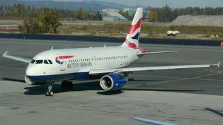 British Airways-fly på Gardermoen.