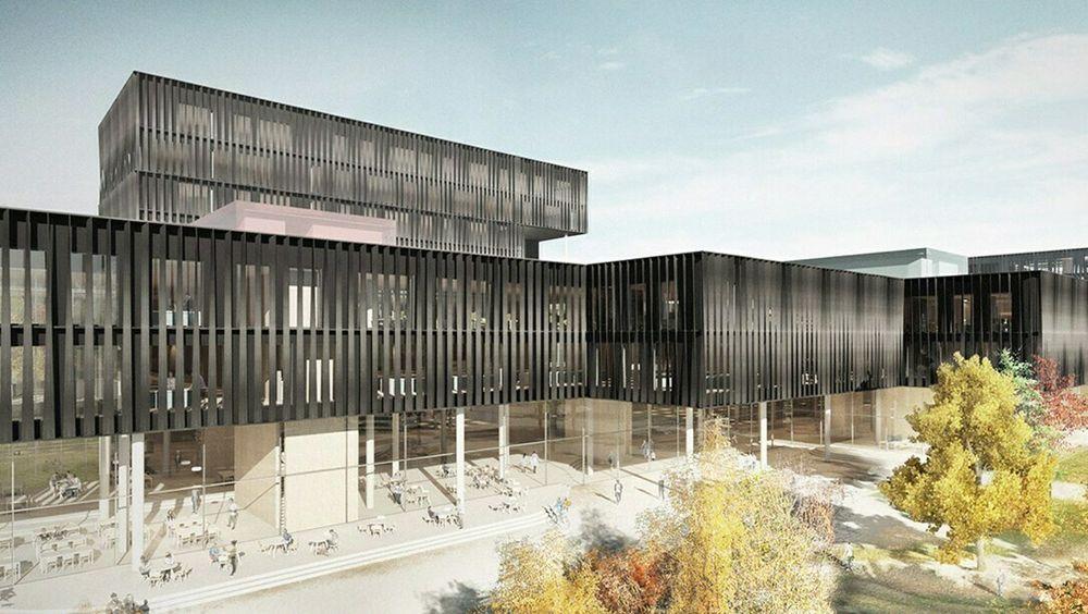 Illustrasjon av hvordan Livsvitenskapsbygget ved Universitetet i Oslo var planlagt.