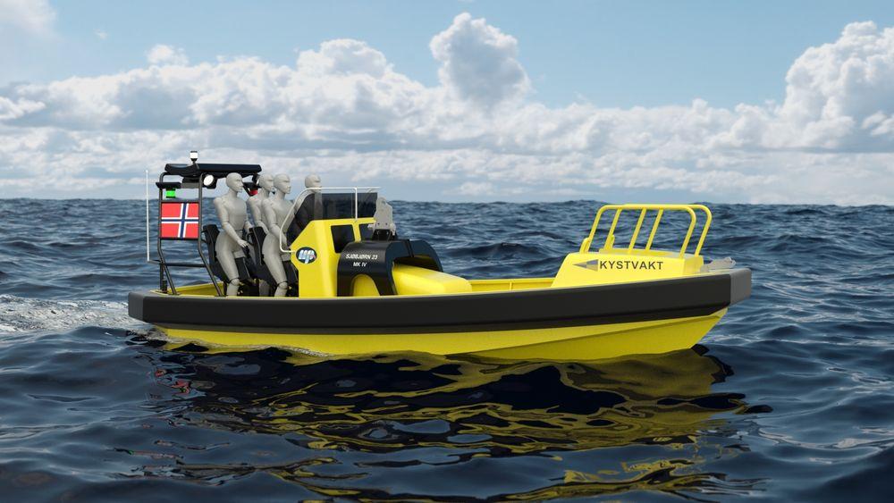 Sjøbjørn 23 er en mindre versjon av Sjøbjørn 25. Fem kystvaktskip skal utrustes med arbeidsbåten.