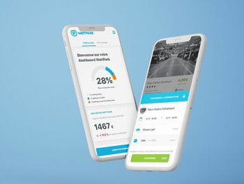 Med den tilhørende appen kan brukere reservere ladeplass og betale for tjenesten.