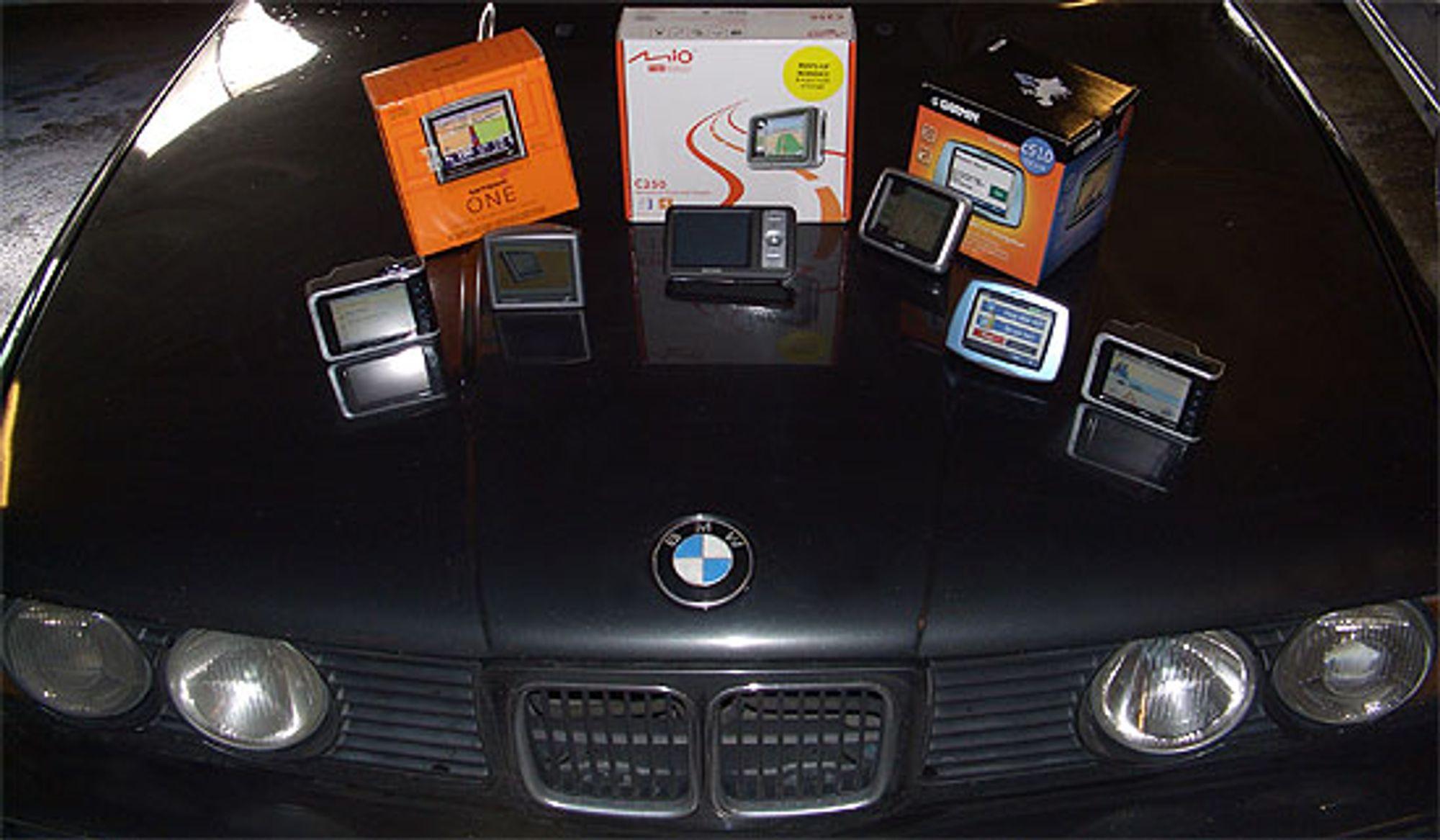 Vi har testet seks GPS-mottakere fra seks produsenter.