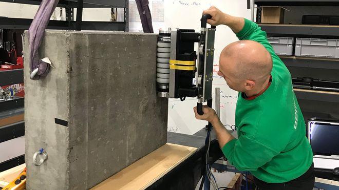 Elop betong betongskanner ulatralyd inspeksjon 3D sprekker hulrom risiko vedlikehold Semcon Cognite