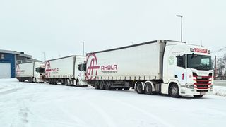 Testes på smale norske vinterveier: Digitalt koblede lastebiler skal senke dieselforbruk og bedre sikkerhet
