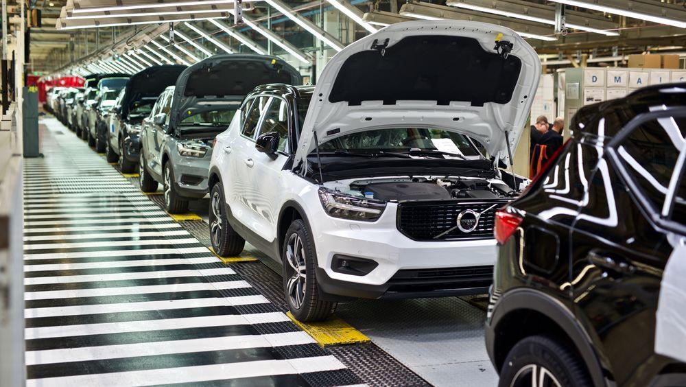 Volvo XC40 under produksjon.