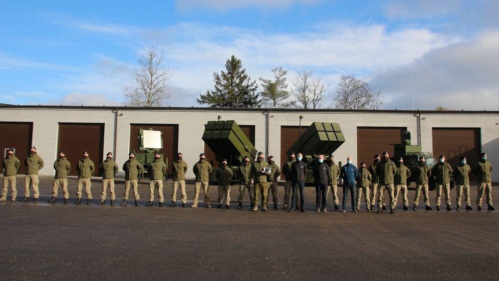 Seremoni for Litauens nyanskaffede Nasams-luftvern.