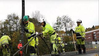Se støpen av nye Bjørnegård bru i Bærum: 750 kubikk betong på 16 timer