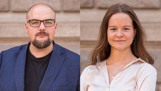 Ansvarlig redaktør og daglig leder Erik Waatland i Medier24 AS og journalist Ingvild Fylling i KOM24.