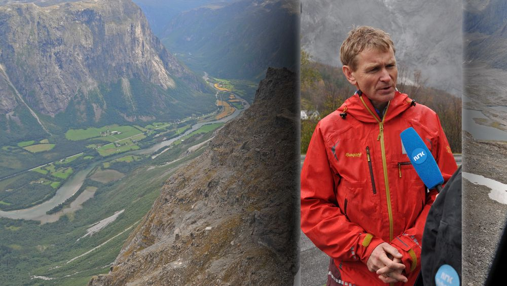 Sjefsgeolog Lars Harald Bikra i NVE har måtte stille opp i mange intervjuer med pressen for å snakke om Mannen. Nå vil han bli direktør for Skred- og vassdragavdelingen i NVE.