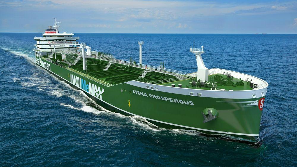 Stena Prosperous blir et av tre metanoldrevne skip som skal leveres i 2022.