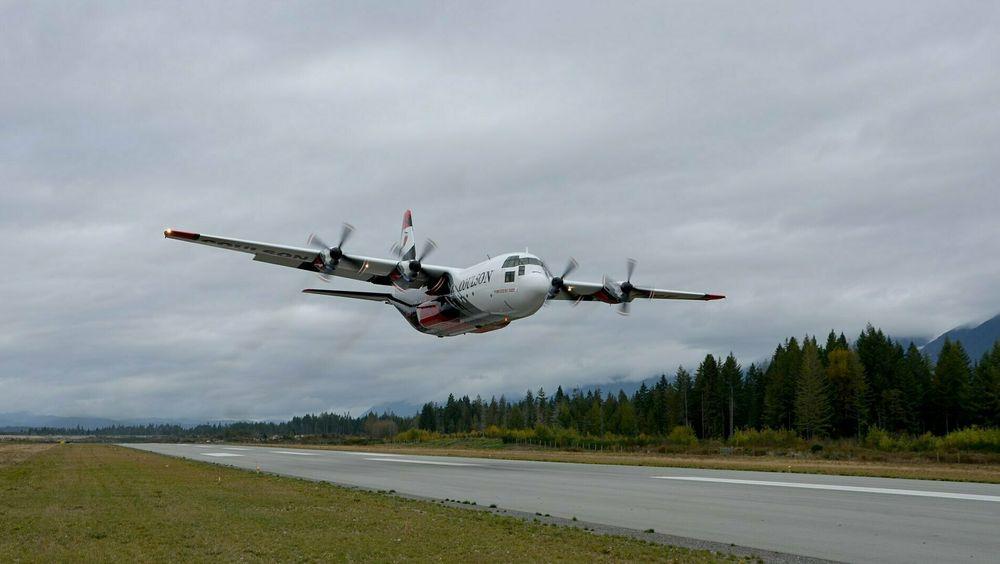 C-130H Hercules (norsk serienummer 956) er nå registrert N132CG, men har beholdt navnet «Ty». Etter ombygging til brannslukkingsfly er det nå klart for nye oppdrag.