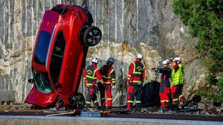 Her slipper Volvo nye biler fra 30 meters høyde
