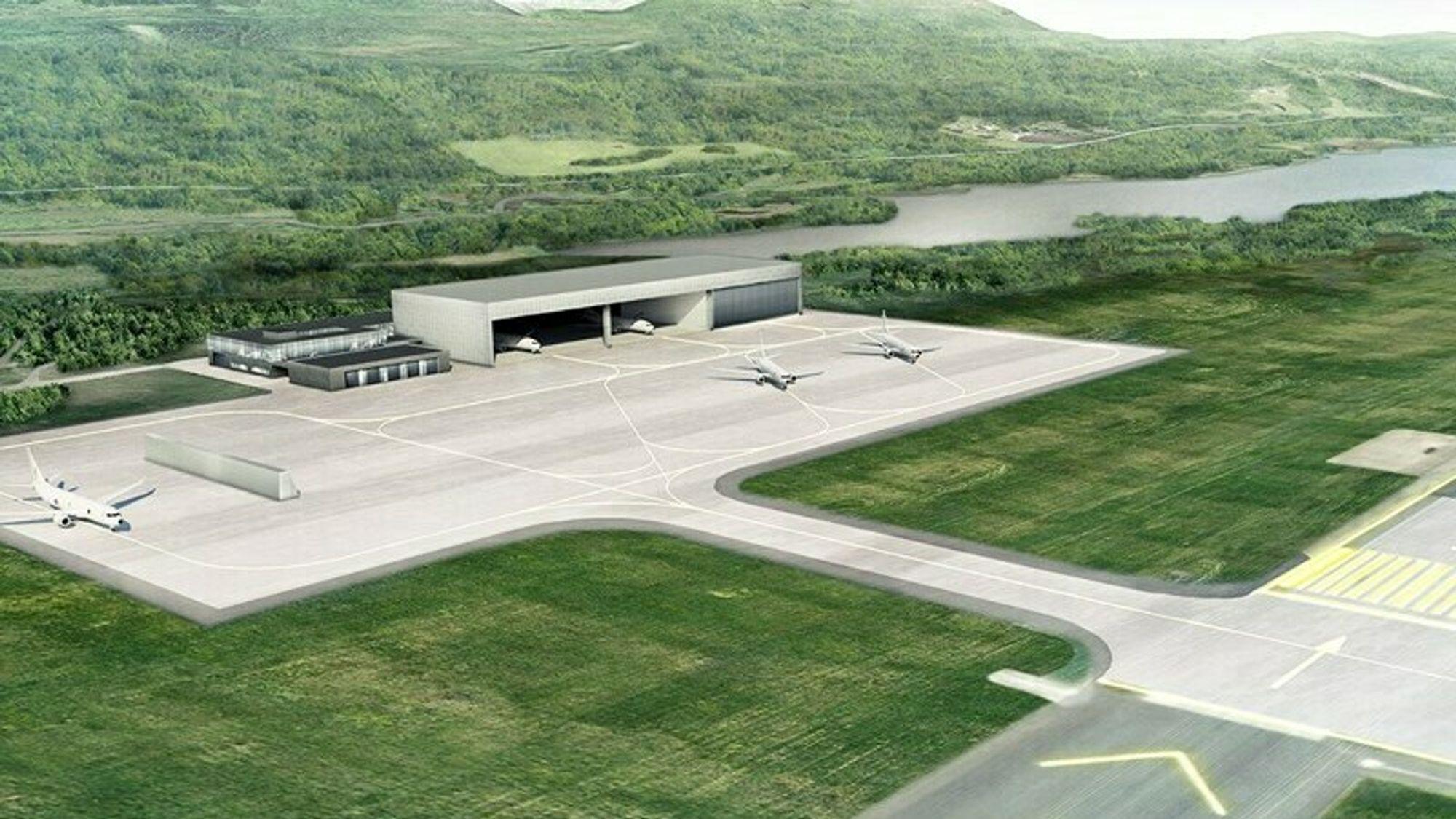 Forsvarsbygg er i gang med å utvikle nye Evenes flystasjon til en framskutt base for kampfly og base for maritime patruljefly.