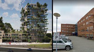 Rett hjem bolig moholt trondheim høyhus grønn fasade skog co2 eiendom milano bosco verde christoffer Søbstad