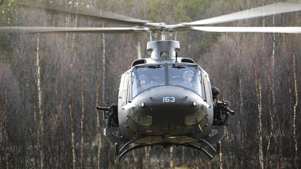 Ifølge flertallet på Stortinget skal Bell 412-helikoptre erstattes med nye helikoptre til Forsvarets Spesialstyrker. Bildet er fra Øvelse Faryab på Setermoen.
