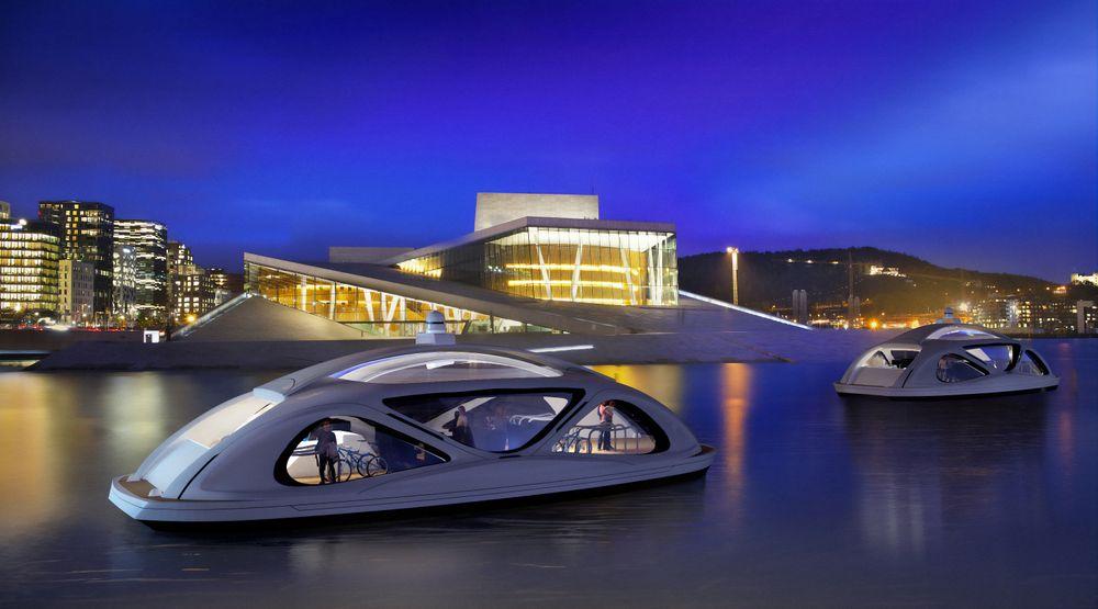Små elektriske og autonome ferger kan erstatte bruer og forkorte transport i byer ved sjø og med elv igjennom. Oslo er en svært aktuell by.