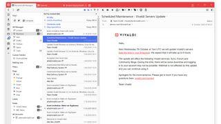 Den første offentlige testutgaven av Vivaldi Mail.a