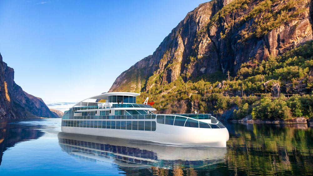 Havyard tenker seg en slik løsning på nullutslippsfartøy i verdensarvfjorder.