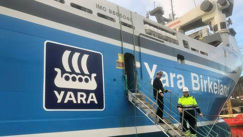 Yara Birkeland: Det autonome skipet får erfaren kaptein ved roret