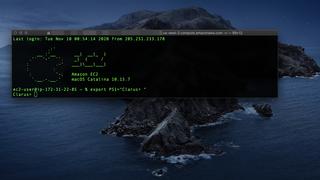 SSH-tilgang til en MacOS Catalina-basert instans i AWS.
