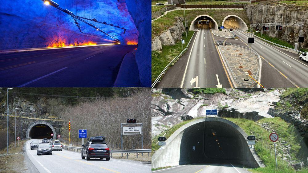 Lærdalstunnelen, Ryfylketunnelen, Gudvangatunnelen og Folgefonntunnelen er per i dag Norges fire lengste veitunneler.