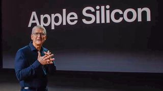 Tim Cook under lanseringen Apple Silicon.