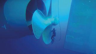 Dykkere som inspiserer skipet kan samtidig polere propellen. Det kan bety 0,5 knop ekstra og spare rederiet for 3 tonn drivstoff per dag.
