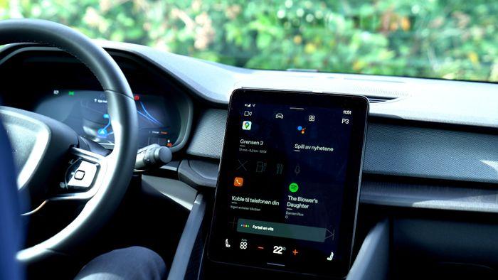 Polestar 2 Android Automotive, skjerm, bil