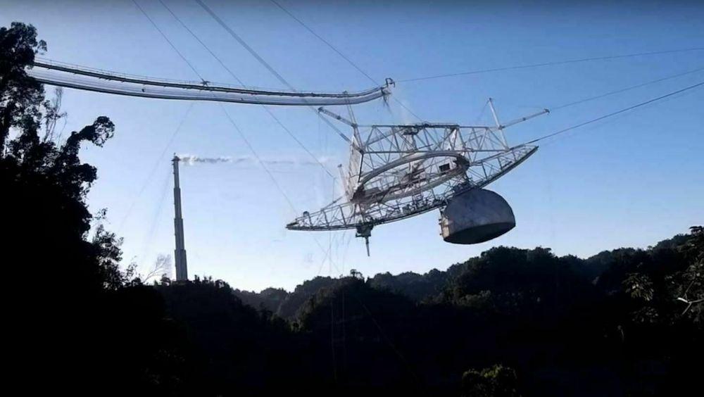 Vaieren ryker: Se video av det gigantiske teleskopets voldsomme kollaps