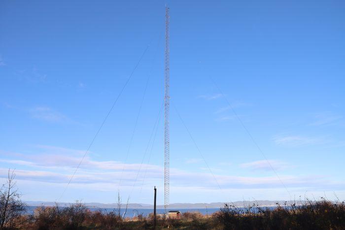 Denne masten var i alle fall i bruk fram til mai 2020.