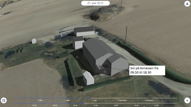 Norkart solforhold 3d jan erik domaas eiendomsmegler kjøper arkitekt utbygger