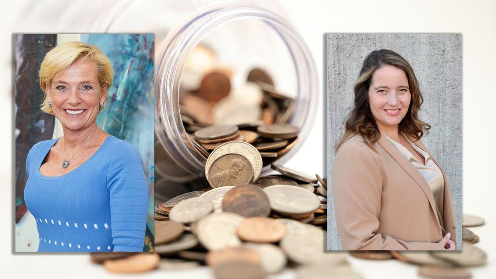 Neste år får rundt 1,5 millioner nordmenn egen pensjonskonto. Her er rådene for hva du bør sjekke ut. Fra venstre: Alexandra Plahte og Beate Engelschiøn.