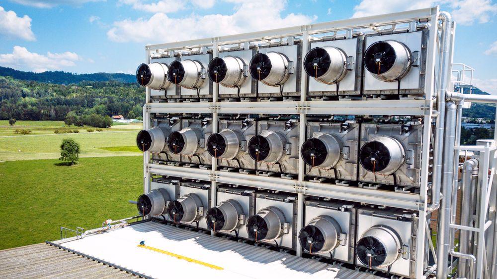 De sammensatte ventilatorene fungerer som CO2-fangere.